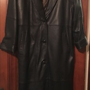 Limited Leather Trench Coat